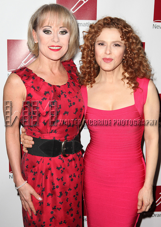 Tracie Bennett & Bernadette Peters.attending the New Dramatists 63rd Annual Spring Luncheon to Honor Bernadette Peters at the Marriott Marquis Hotel in New York City on 5/24/2012 © Walter McBride/WM Photography .