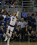 Nevada forward Trey Porter (15) grabs a rebound against California Baptist in the first half of an NCAA college basketball game in Reno, Nev., Friday, Nov. 16, 2018. (AP Photo/Tom R. Smedes)