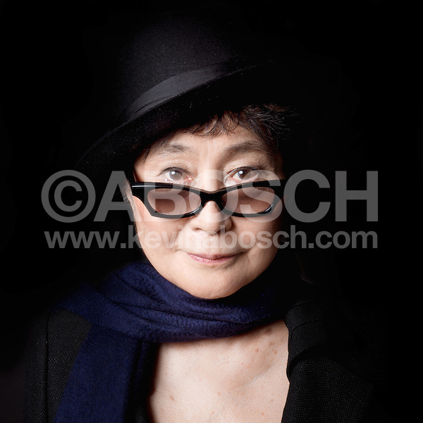 Portrait of Yoko Ono photographed by Kevin Abosch