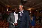 Derek Redmond and Mark Foster<br /> Celebrity Cup Gala Dinner<br /> Celtic Manor Resort<br /> 05.07.14<br /> &copy;Steve Pope-SPORTINGWALES