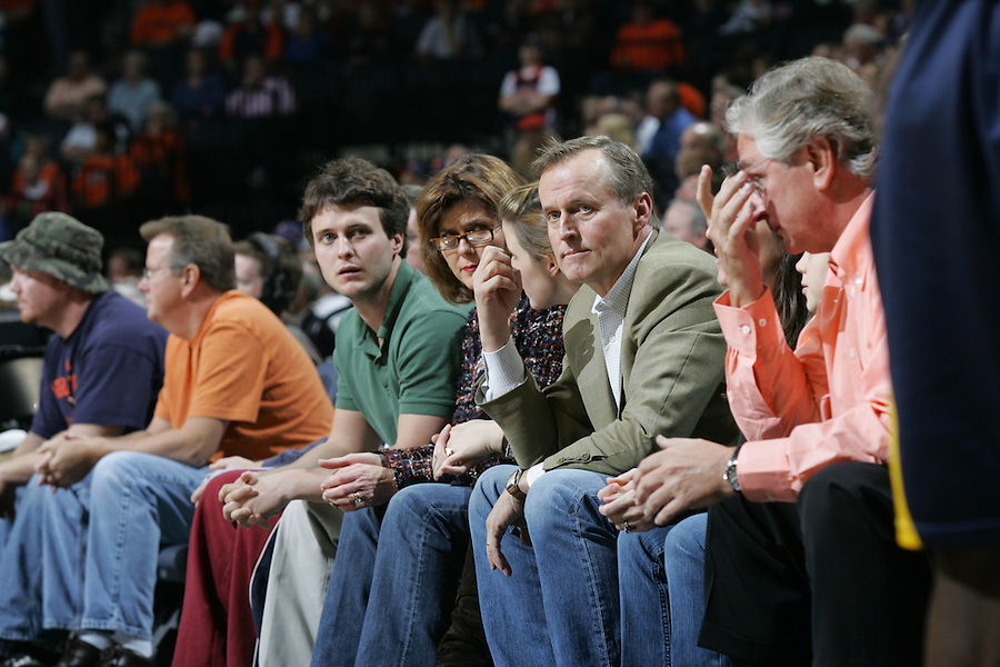 John Grisham attends a Virginia basketball game.
