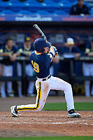Michigan Wolverines left fielder Matt Ramsay (19) at bat during the second game of a doubleheader against the Canisius College Golden Griffins on February 20, 2016 at Tradition Field in St. Lucie, Florida.  Michigan defeated Canisius 3-0.  (Mike Janes/Four Seam Images)