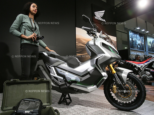 March 27, 2016, Tokyo, Japan - Japanese motorcycle giant Honda Motor displays City Adventure Concept at the Tokyo Motorcycle Show in Tokyo on Sunday, March 27, 2016. Japanese and foreign motorcycle makers exhibit prototype models and latest models at a three-day event. (Photo by Yoshio Tsunoda/AFLO)