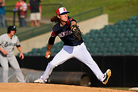 Jackson Generals pitcher Connor Grey (6) delivers a pitch during a Southern League game against the Biloxi Shuckers on June 14, 2019 at The Ballpark at Jackson in Jackson, Tennessee. Jackson defeated Biloxi 4-3. (Brad Krause/Four Seam Images)