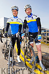 John O'Carroll and George Doyle at the Lacey cup cycle race in Tralee on Sunday.