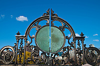 Black forged metal gates of the Boston Public Garden