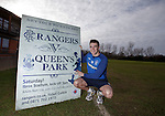 Andy Little promoting the Rangers v Queen's Park match