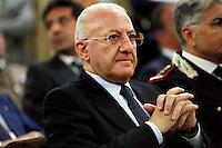 Il Governatore della Campania Vincenzo De Luca   partecipa al Convegno sul mezzogiorno alla fondazione Banco iNapoli