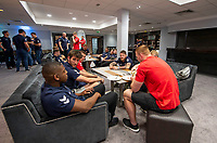 Picture by Allan McKenzie/SWpix.com - 24/04/2018 - Rugby League - RFL EPS Headshots - Village Hotels, Bury, England - England EPS and Knights players relax at camp.