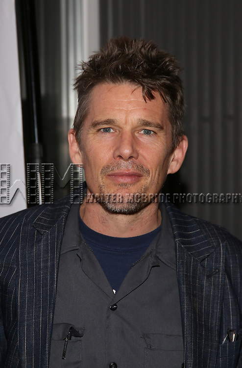 "Ethan Hawke attends the Opening Night of The New Group World Premiere of ""All The Fine Boys"" at the The Green Fig Urban Eatery on March 1, 2017 in New York City."