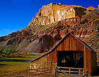 Barn at Fruita  Capitol Reef National Park, Utah    Pioneer barn near Fremont River