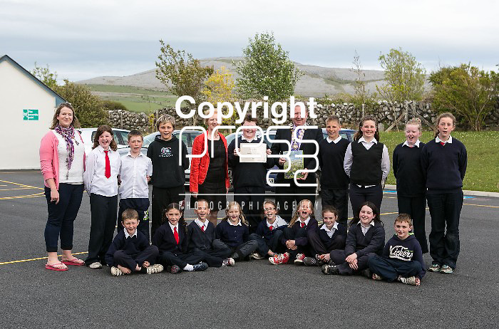 Teachers & Students pictured at the presentation of certificated by Eco Beo to students from New Quay National school  Pictured Credit Brian Gavin Press 22