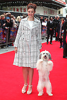 Ashleigh and Pudsey arriving for the Postman Pat Premiere, Odeon West End, London. 11/05/2014 Picture by: Alexandra Glen / Featureflash