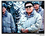 NR01140 / Kim Jong Il president de la Coree du Nord. La Corée du Nord a déclaré, jeudi 10 février, s'etre dotee de la bombe atomique pour se proteger des Etats-Unis...Coree du Nord, 2005...© Nicolas Righetti/Rezo.. ..Kim Jong Il the president of North Korea...The North Korea declared, Thursday February 10, to have obtained the atomic bomb to protect itself from the United States..North Korea, 2005...© Nicolas Righetti/Rezo..