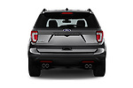 Straight rear view of a 2019 Ford Explorer Sport 5 Door SUV stock images
