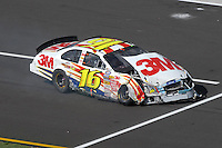 Apr 28, 2007; Talladega, AL, USA; Nascar Busch Series driver Greg Biffle (16) after crashing during the Aarons 312 at Talladega Superspeedway. Mandatory Credit: Mark J. Rebilas