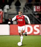 Nederland, Alkmaar, 5 maart 2009..KNVB Beker.Seizoen 2008-2009.AZ-NAC (1-2).Simon Poulsen van AZ in actie met de bal