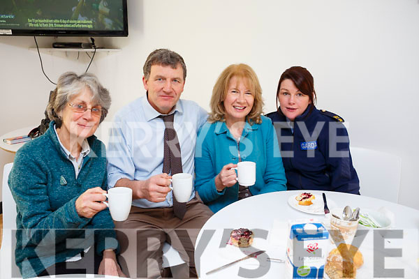 Enjoying the coffee morning hosted by Tralee Garda Station on Monday morning last, l to r: Syliva Thompson, Inspector John Brennan, Helen O'Sullivan and Garda Marion McCarthy.