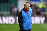England Rugby Head Coach Eddie Jones looks on during the pre-match warm-up. Guinness Six Nations match between England and Scotland on March 16, 2019 at Twickenham Stadium in London, England. Photo by: Patrick Khachfe / Onside Images
