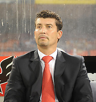 Toluca FC. Head Coach Juan Manuel de la Torre. Toluca FC defeated DC United 3-1 in the Concacaf Champions League tournament,at RFK Stadium Wednesday, August 26  2009.