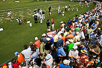 Photography of the driving range where players warm up for the Quail Hollow Championship golf tournament 2009. The event, formerly called the Wachovia Championship, is a top event on the PGA Tour, attracting such popular golf icons as Tiger Woods, Vijay Singh and Bubba Watson. The third round in the Quail Hollow Championship golf tournament at the Quail Hollow Club in Charlotte, N.C., Saturday, May 02, 2009.