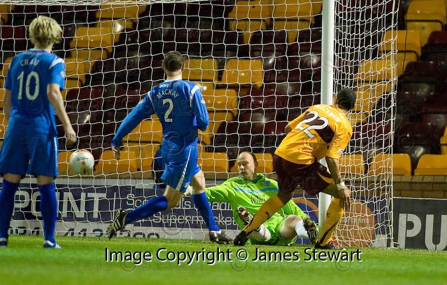 10/11/2010   Copyright  Pic : James Stewart.sct_jspa001_motherwell_v_st_johnstone  .::  NICK BLACKMAN SCORES HIS THIRD  ::.James Stewart Photography 19 Carronlea Drive, Falkirk. FK2 8DN      Vat Reg No. 607 6932 25.Telephone      : +44 (0)1324 570291 .Mobile              : +44 (0)7721 416997.E-mail  :  jim@jspa.co.uk.If you require further information then contact Jim Stewart on any of the numbers above.........
