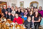 Suir Valley Choir from Carrick On Suir who performed at St Johns church  vigil mass on Saturday evening enjoying a meal at Bella Bia's, A previous member of the Suir Valley Choir  Mrs O'Keeffe who recently moved to Tralee to take up her new post as Principal of Presentation Secondary School.invited them to play in Tralee