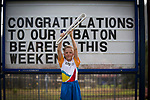Batonbearer Zac Braggn carrying the Baton as the Queen's Baton Relay visited In the host state of Queensland the Queen's Baton will visit 83 communities from Saturday 3 March to Wednesday 4 April 2018. As the Queen's Baton Relay travels the length and breadth of Australia, it will not just pass through, but spend quality time in each community it visits, calling into hundreds of local schools and community celebrations in every state and territory. The Gold Coast 2018 Commonwealth Games (GC2018) Queen's Baton Relay is the longest and most accessible in history, travelling through the Commonwealth for 388 days and 230,000 kilometres. After spending 100 days being carried by approximately 3,800 batonbearers in Australia, the Queen's Baton journey will finish at the GC2018 Opening Ceremony on the Gold Coast on 4 April 2018.