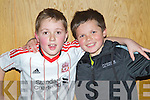Pictured at the evening with John Aldridge in Ballyroe on Thursday night, from left: Sean O'Driscoll and Cillian Nolan.