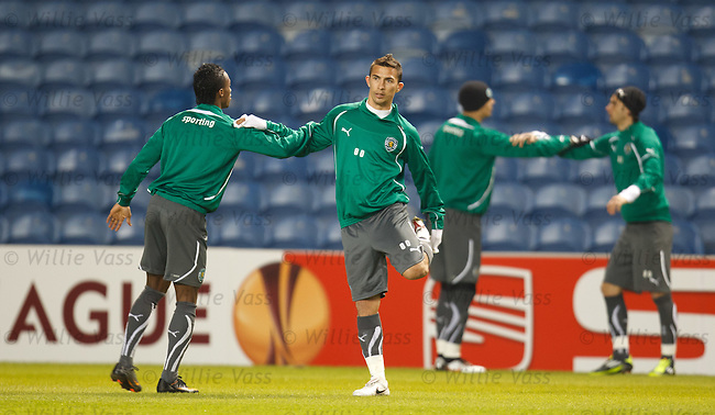 Sporting's Christiano at Ibrox