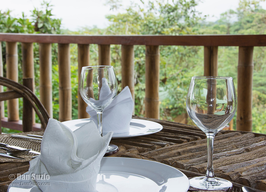 Open-air dining room at San Jorge de Milpe Eco-Lodge, Ecuador