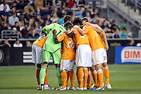 Houston Dynamo. The Philadelphia Union and the Houston Dynamo played to a 1-1 tie during a Major League Soccer (MLS) match at PPL Park in Chester, PA, on August 6, 2011.
