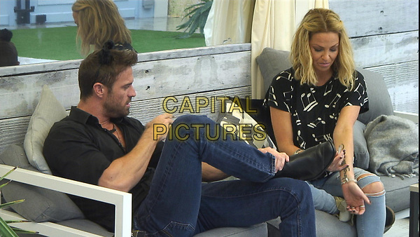 Celebrity Big Brother 2017<br /> Chad Johnson, Sarah Harding<br /> *Editorial Use Only*<br /> CAP/KFS<br /> Image supplied by Capital Pictures