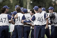 19 August 2010: Jorge Hereaud of Team France is congratulated by his teammates during France 7-6 win over Slovakia, at the 2010 European Championship, under 21, in Brno, Czech Republic.