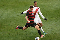 Chester, PA - Sunday December 10, 2017: Logan Panchot, Mason Toye Stanford University defeated Indiana University 1-0 in double overtime during the NCAA 2017 Men's College Cup championship match at Talen Energy Stadium.