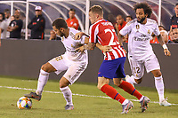East Rutherford (EUA), 26/07/2019 - Amistoso Internacional / Real Madrid x Atlético de Madrid -  Hazard e Marcelo  do Real  Madrid e  Kieran Trippier do Atlético Madrid jogo válido pela International Champions Cup no MetLife Stadium em East Rutherford nos Estados Unidos na noite desta sexta-feira, 26. (Foto: William Volcov/Brazil Photo Press/Agencia O Globo) Esportes