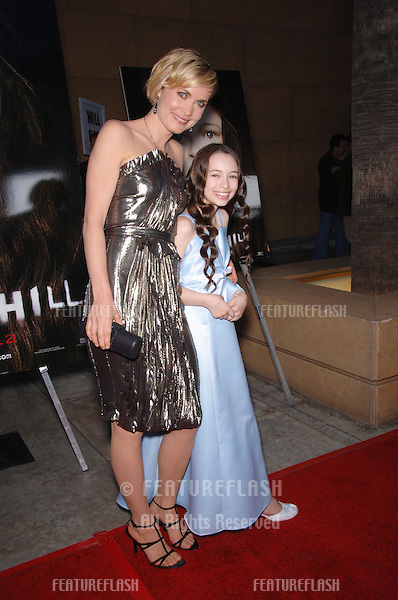 Actresses RADHA MITCHELL (left) & JODELLE FERLAND at the world premiere, in Hollywood, of their new movie Silent Hill..April 20, 2006  Los Angeles, CA.© 2006 Paul Smith / Featureflash