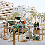 Alicante town center riddled with infrastructure works.