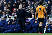 1st March 2020; Tottenham Hotspur Stadium, London, England; English Premier League Football, Tottenham Hotspur versus Wolverhampton Wanderers; A dejected Tottenham Hotspur Manager Jose Mourinho as Raul Jimenez of Wolverhampton Wanderers is substituted