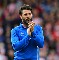 Lincoln City manager Danny Cowley<br /> <br /> Photographer Chris Vaughan/CameraSport<br /> <br /> The EFL Sky Bet League Two Play Off First Leg - Lincoln City v Exeter City - Saturday 12th May 2018 - Sincil Bank - Lincoln<br /> <br /> World Copyright &copy; 2018 CameraSport. All rights reserved. 43 Linden Ave. Countesthorpe. Leicester. England. LE8 5PG - Tel: +44 (0) 116 277 4147 - admin@camerasport.com - www.camerasport.com
