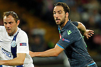 Gonzalo Higuain  during Europa League Semi Final first    leg soccer match, between SSC Napoli and  Dinipro   at  the San Paolo   stadium in Naples  Italy , May 07, 2015