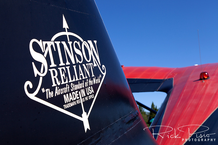 Stinson Reliant tail and logo.