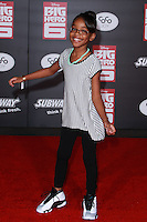 HOLLYWOOD, LOS ANGELES, CA, USA - NOVEMBER 04: Marsai Martin arrives at the Los Angeles Premiere Of Disney's 'Big Hero 6' held at the El Capitan Theatre on November 4, 2014 in Hollywood, Los Angeles, California, United States. (Photo by David Acosta/Celebrity Monitor)