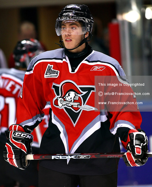 QMJHL (LHJMQ) hockey player profile photo on Drummondville Voltigeurs Mike Hoffman October 24, 2008 at the Colisee Pepsi in Quebec city.