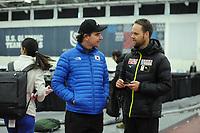 SPEEDSKATING: SALT LAKE CITY: 07-12-2017, Utah Olympic Oval, training ISU World Cup, Bob de Jong (trainer/coach KOR), Johan de Wit (trainer/coach JPN), ©photo Martin de Jong