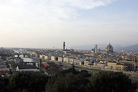 Veduta di Firenze al tramonto da Piazzale Michelangelo.<br /> View of Florence at sunset from Piazzale Michelangelo.<br /> UPDATE IMAGES PRESS/Riccardo De Luca