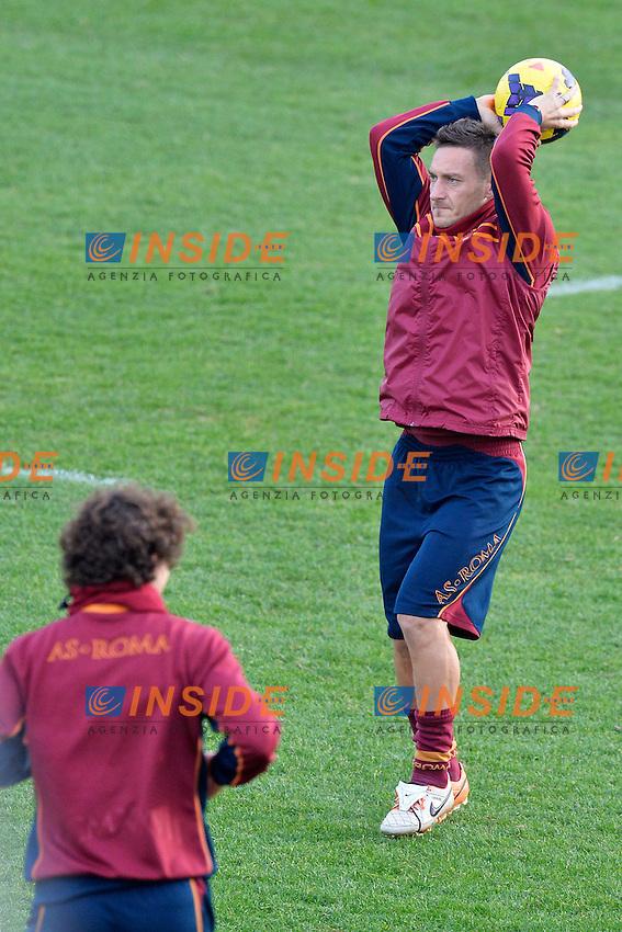 Francesco Totti <br /> Roma 03-01-2014 Trigoria, As Roma training. Allenamento - Football Calcio Serie A 2013/2014  Foto Andrea Staccioli / Insidefoto