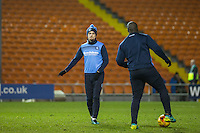 Stephen McGinn of Wycombe Wanderers warms up at HT during the The Checkatrade Trophy match between Blackpool and Wycombe Wanderers at Bloomfield Road, Blackpool, England on 10 January 2017. Photo by Andy Rowland / PRiME Media Images.