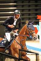 AUS-James Arkins (ROSTHWAITE VIGILANTE II) FINAL-1ST: 1.60m Grand Prix: 2016 NZL-Riding with the Stars, Claudelands Arena, Hamilton (Friday 12 February) CREDIT: Libby Law COPYRIGHT: LIBBY LAW PHOTOGRAPHY