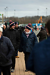 AFC Fylde 1, Aldershot Town 0, 14/03/2020. Mill Farm, National League. Home supporters arriving at the stadium before AFC Fylde took on Aldershot Town in a National League game at Mill Farm, Wesham. The fixture was played against the backdrop of the total postponement of all Premier League and EFL football matches due to the the coronavirus outbreak. The home team won the match 1-0 with first-half goal by Danny Philliskirk watched by a crowd of 1668. Photo by Colin McPherson.